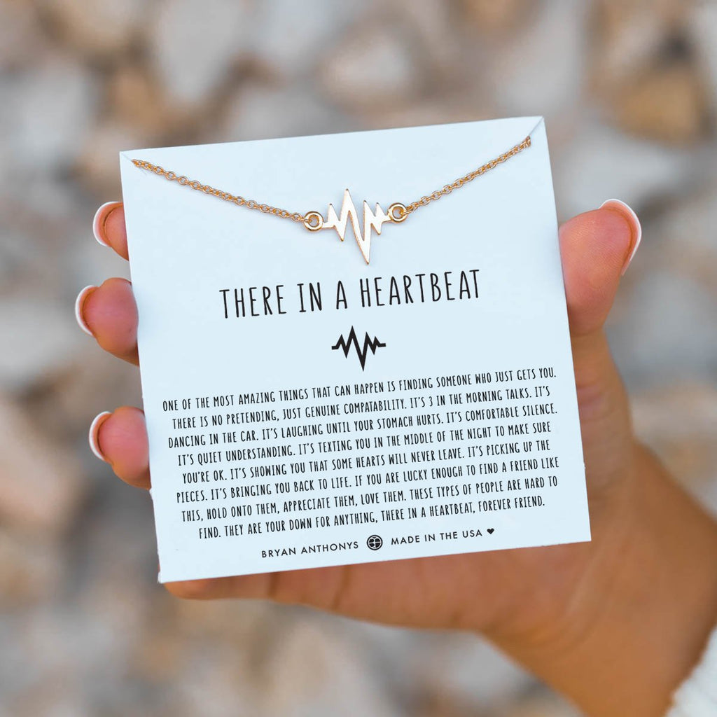 there in a heartbeat gold on jewelry card