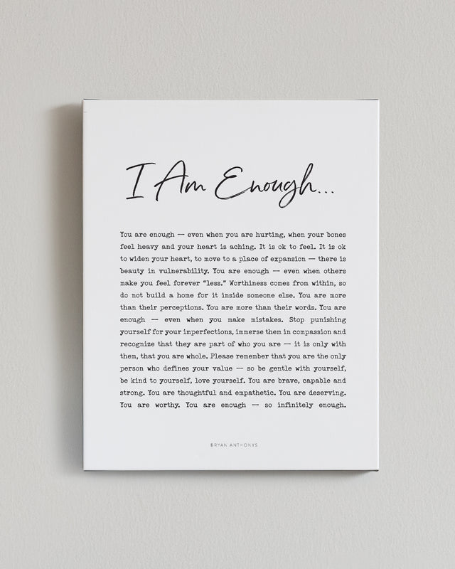 I Am Enough Canvas Print
