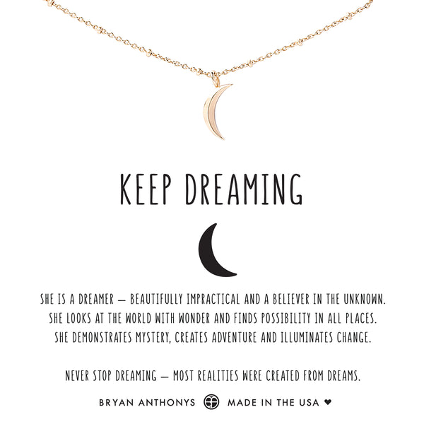 bryan anthonys dainty moon choker keep dreaming 14k gold