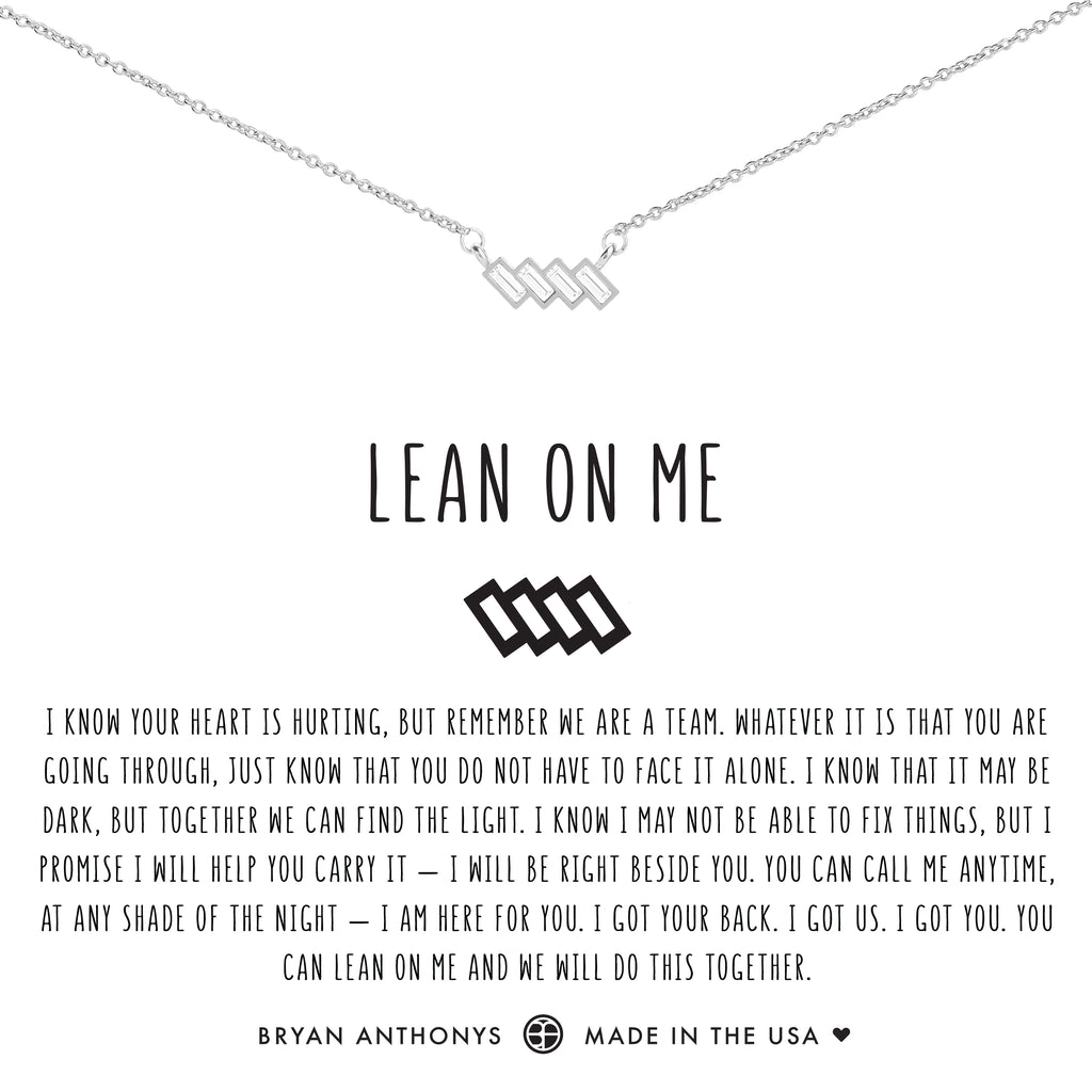 Bryan Anthonys dainty lean on me necklace silver