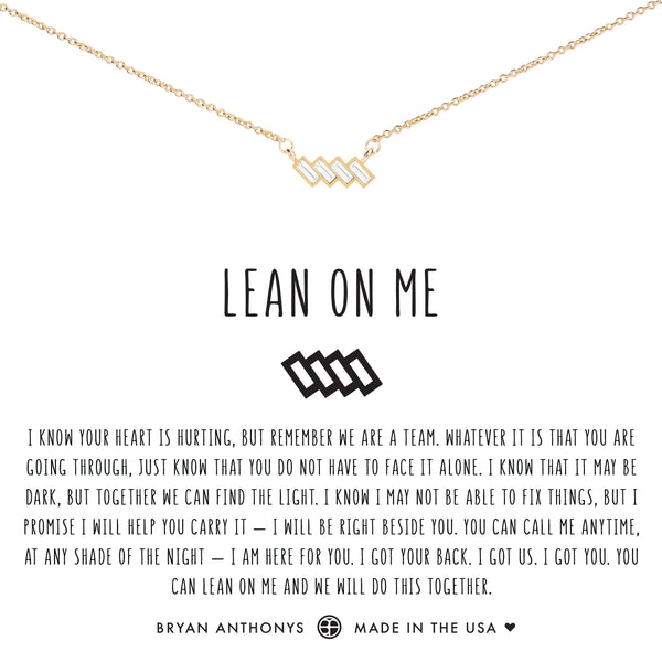 Bryan Anthonys dainty lean on me necklace 14k gold