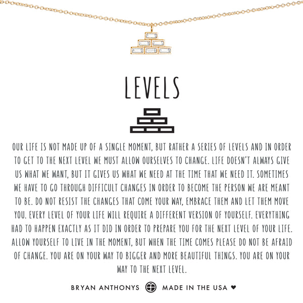 Bryan Anthonys dainty levels necklace 14k gold