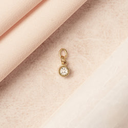 bryan anthonys charm collection one day at a time earring charm product shot close up 14k gold