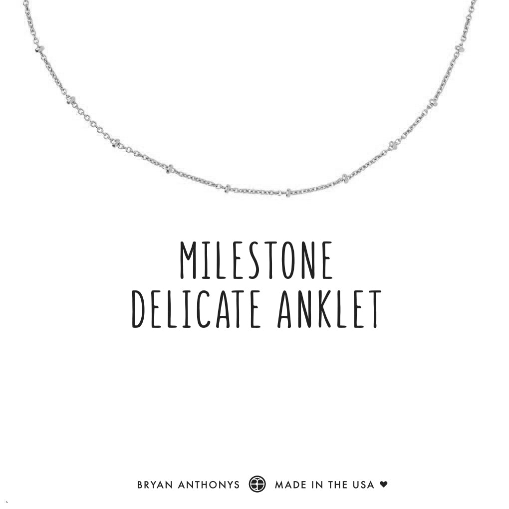 bryan anthonys dainty milestone delicate anklet silver