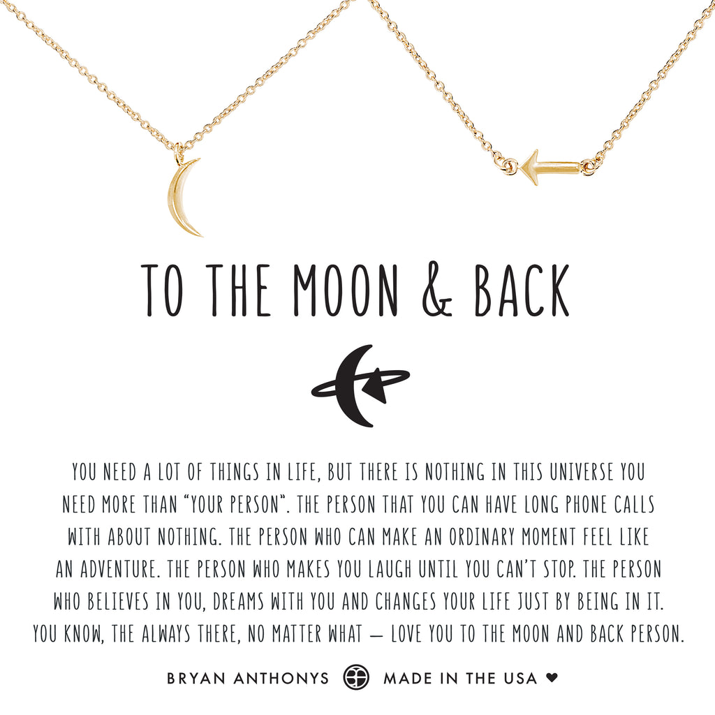 Bryan Anthonys dainty to the moon and back bracelet set 14k gold