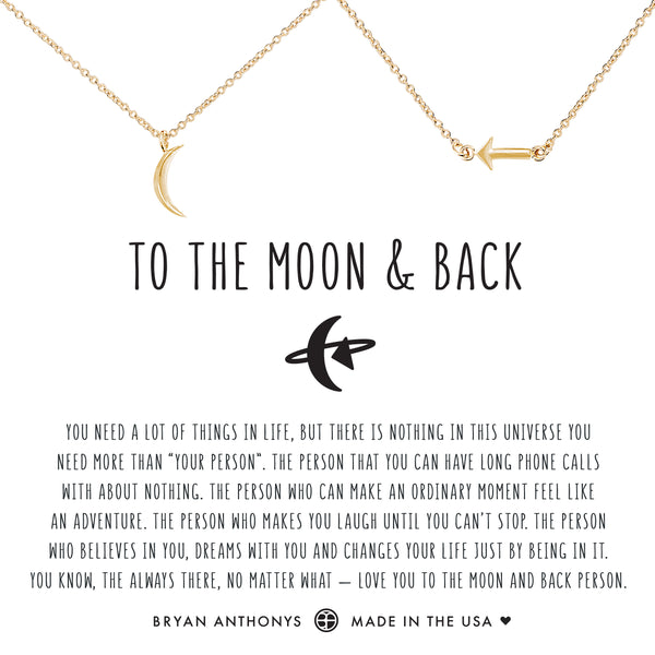 Bryan Anthonys dainty to the moon and back necklace set 14k gold