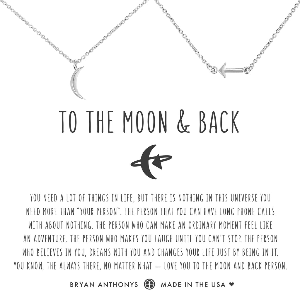 Bryan Anthonys dainty to the moon and back necklace set silver