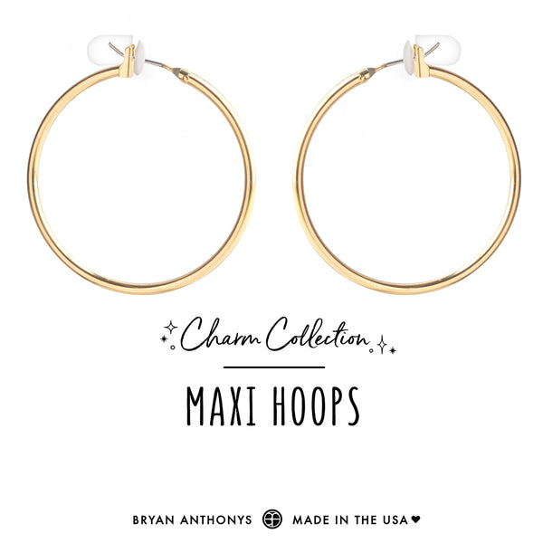 bryan anthonys charm collection earring charm bases maxi hoops 14k gold