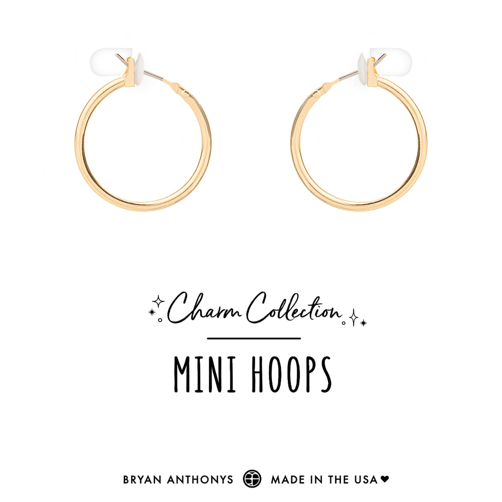 bryan anthonys charm collection earring charm bases mini hoops 14k gold