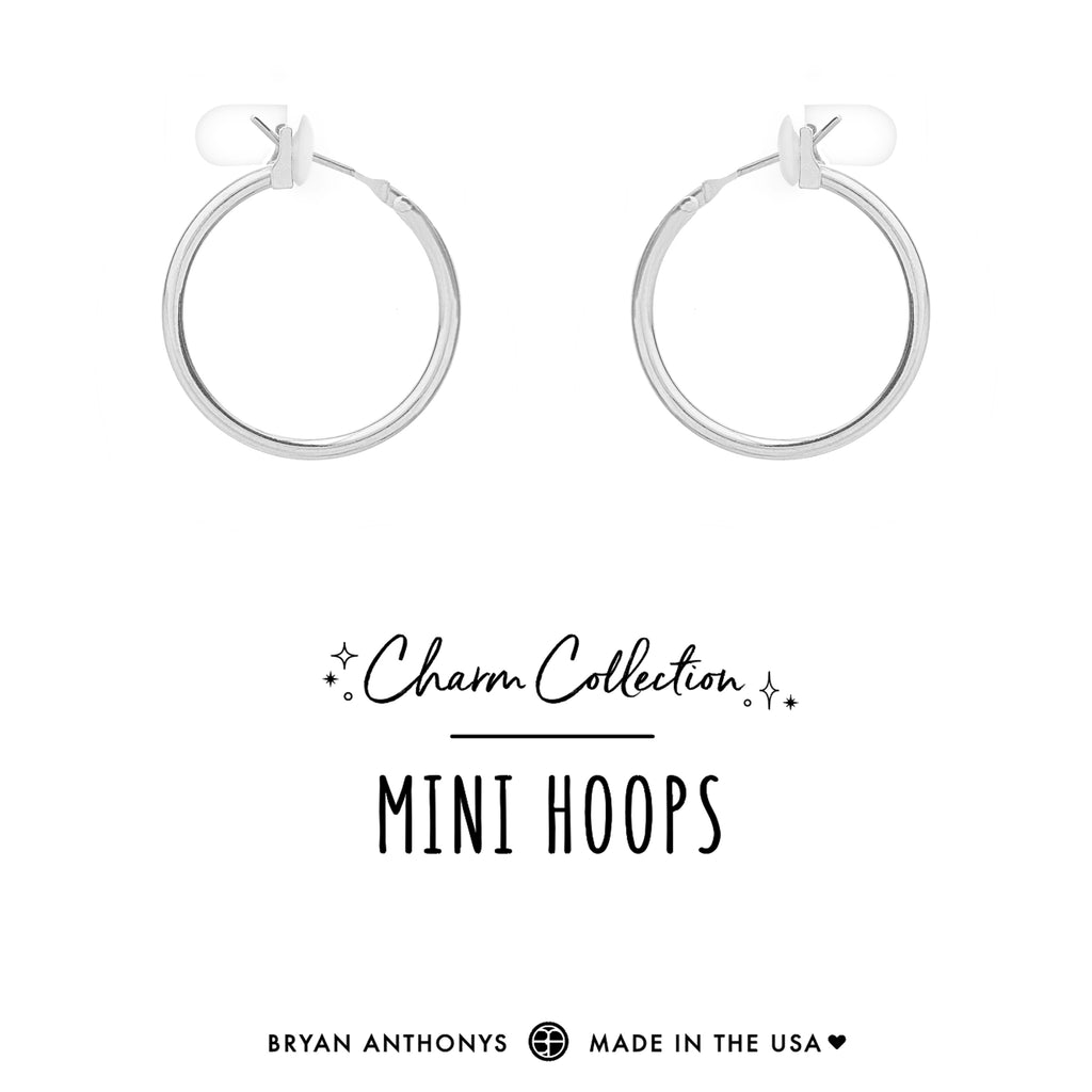 bryan anthonys charm collection earring charm bases mini hoops silver