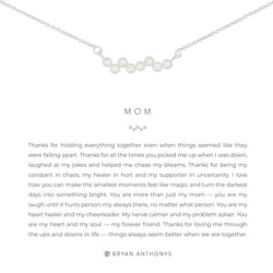 Bryan Anthonys Mom necklace dainty silver opal