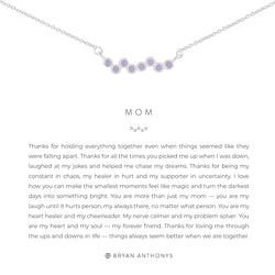 Bryan Anthonys Mom necklace dainty silver tanzanite