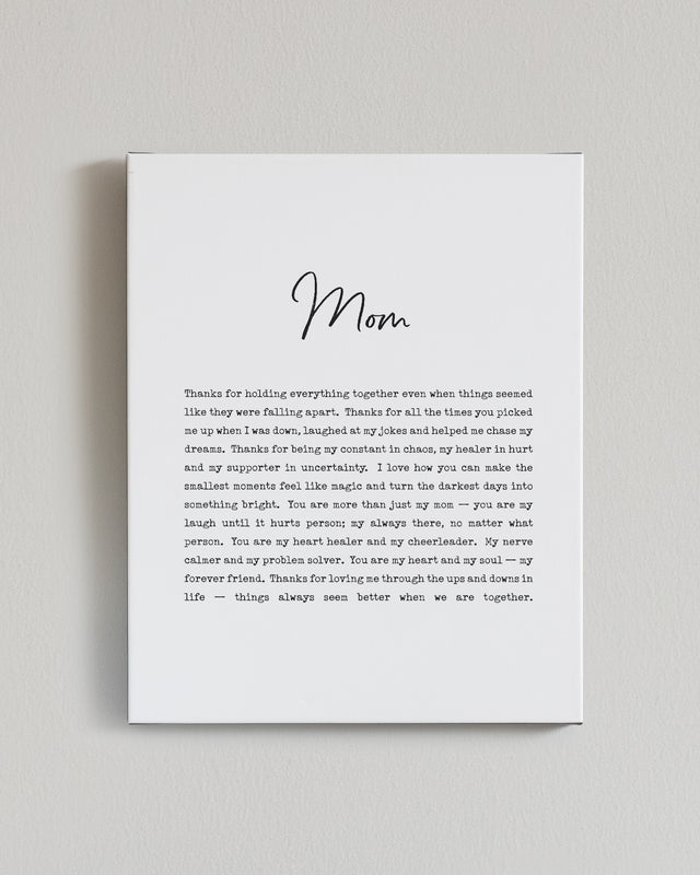 Mom — Mini Mantra Block