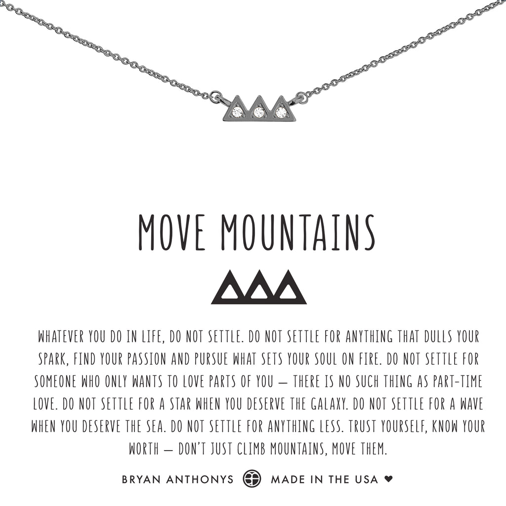 Bryan Anthonys dainty move mountains necklace gunmetal