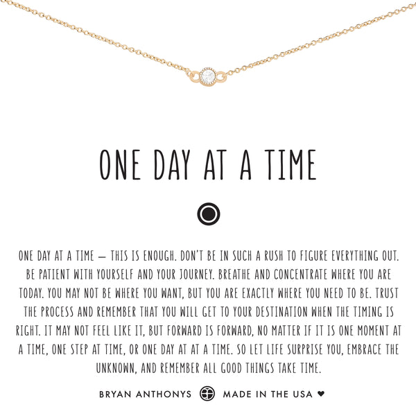 bryan anthonys dainty one day at a time choker 14k gold