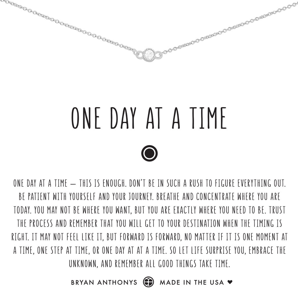 bryan anthonys dainty one day at a time choker silver