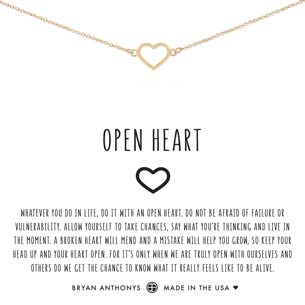 bryan anthonys dainty open heart choker 14k gold