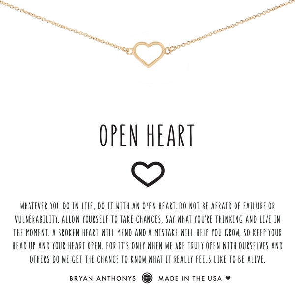 bryan anthonys dainty open heart anklet 14k gold