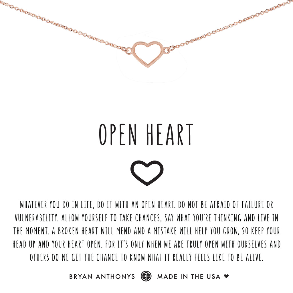 bryan anthonys dainty open heart choker rose gold