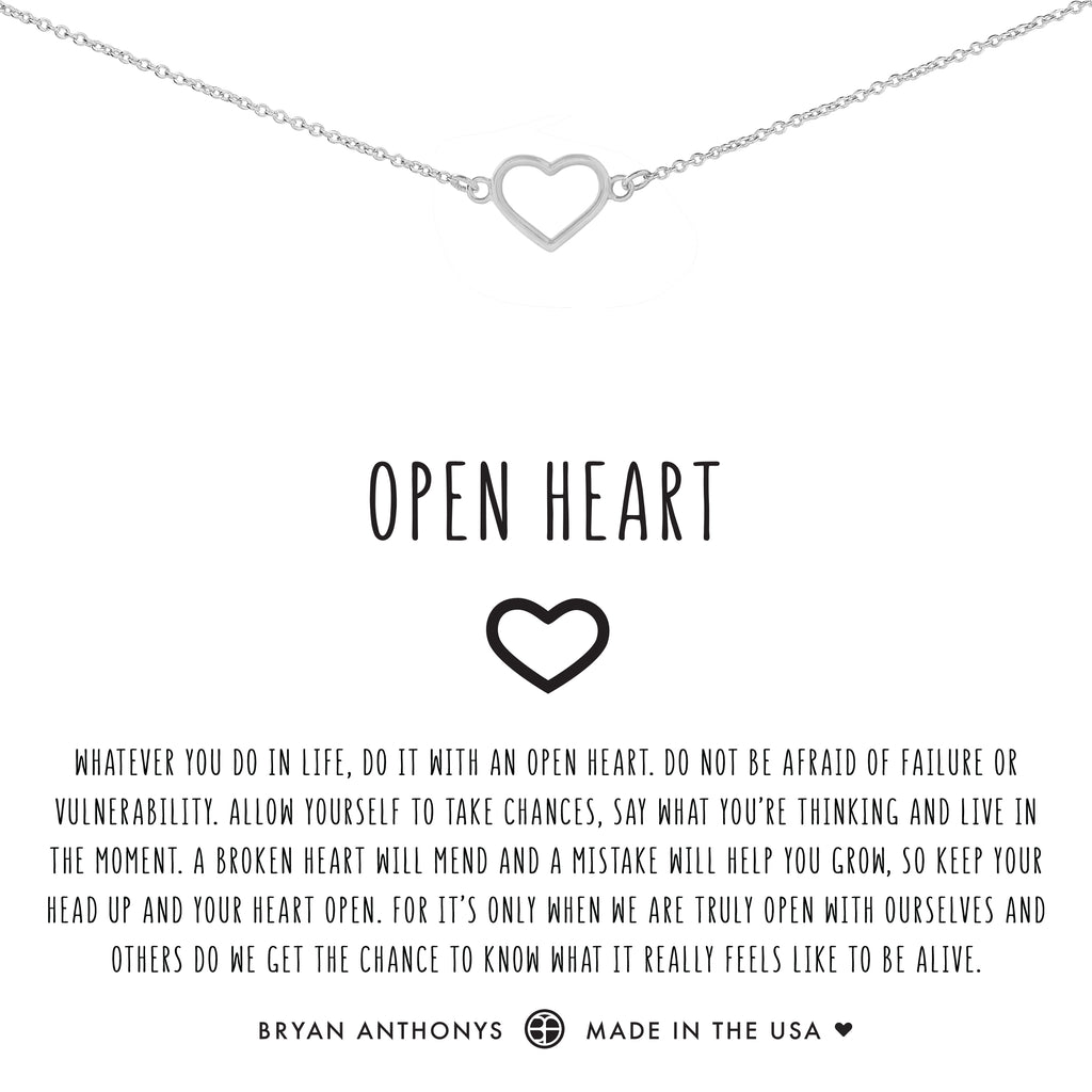 bryan anthonys dainty open heart choker silver