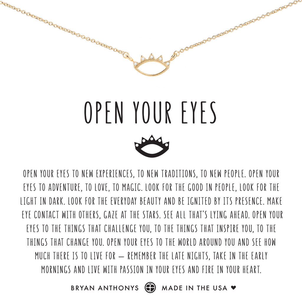 Bryan Anthonys dainty open your eyes necklace 14k gold