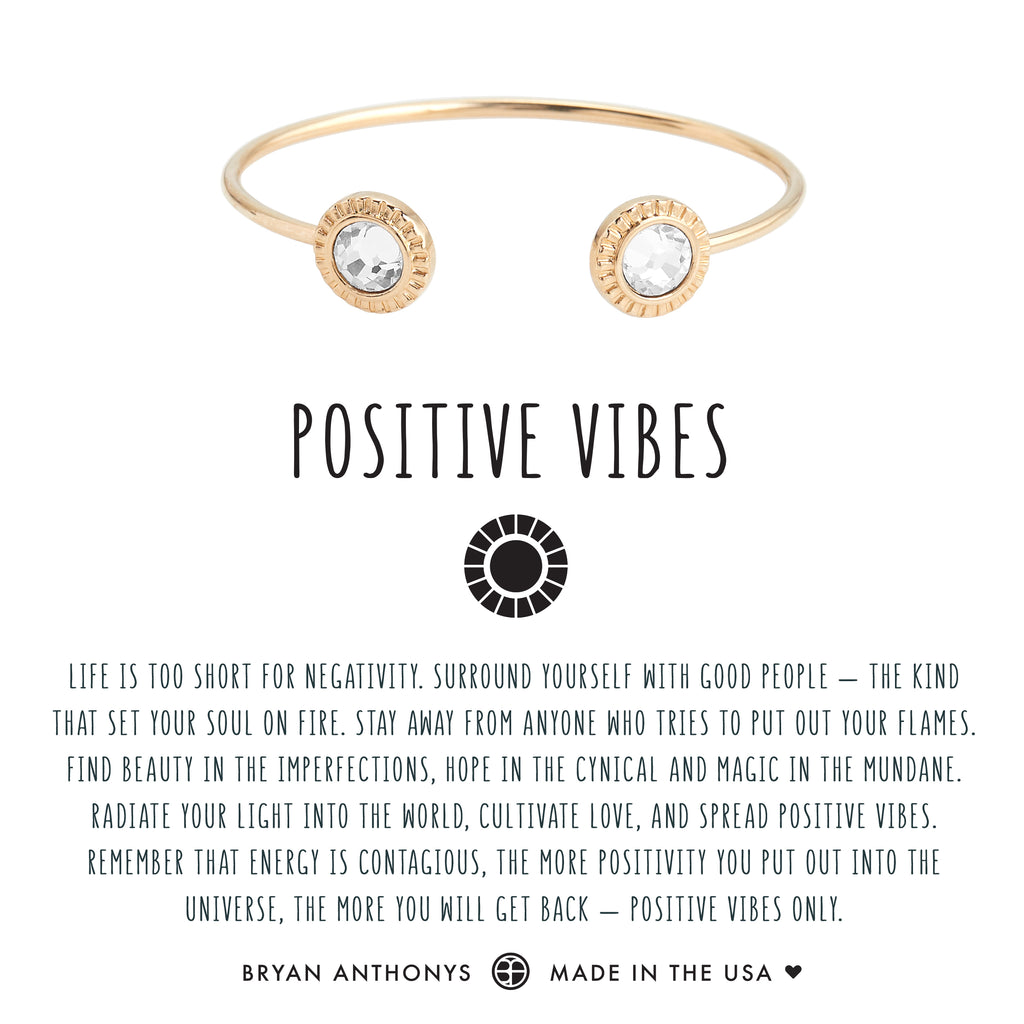 bryan anthonys dainty positive vibes cuff 14k gold