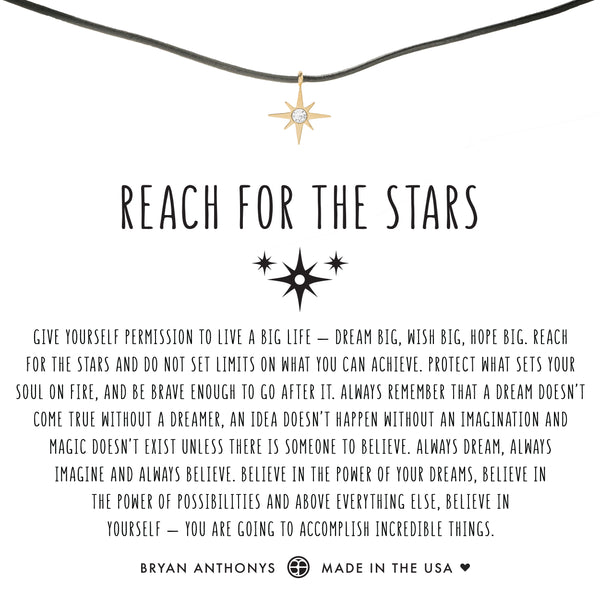 bryan anthonys dainty reach for the stars leather choker 14k gold