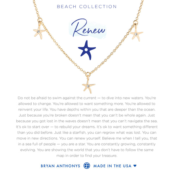Bryan Anthonys dainty starfish anklet renew 14k gold