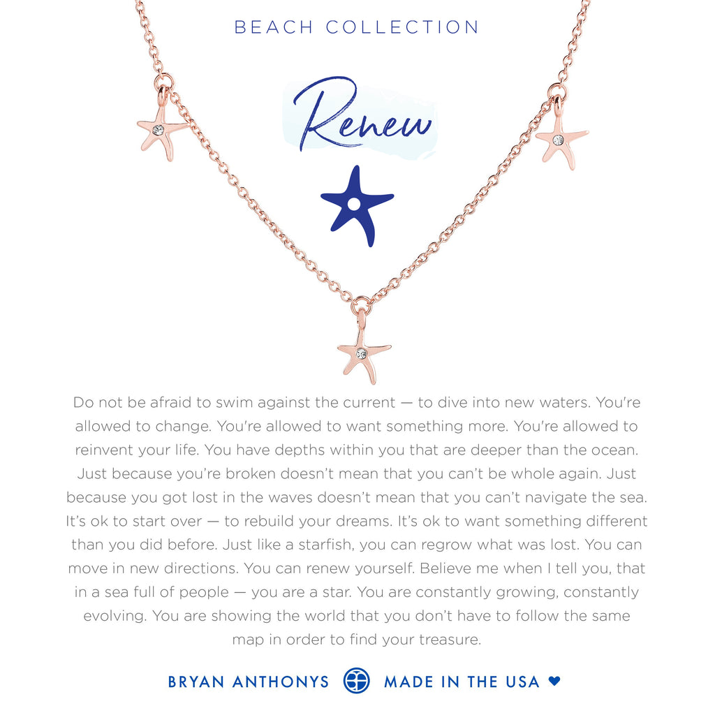 Bryan Anthonys dainty starfish anklet renew rose gold