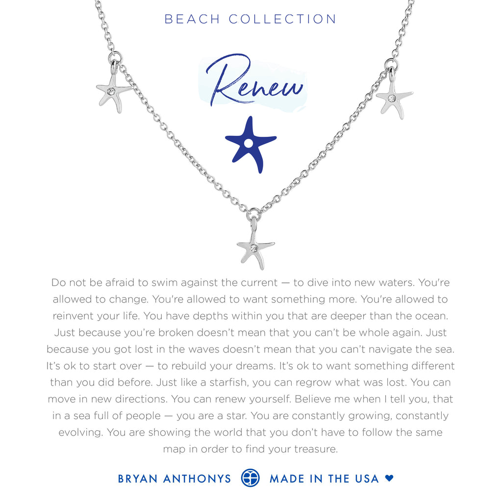 Bryan Anthonys dainty starfish anklet renew silver