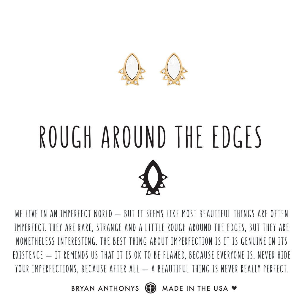 Bryan Anthonys rough around the edges dainty earrings 14k gold
