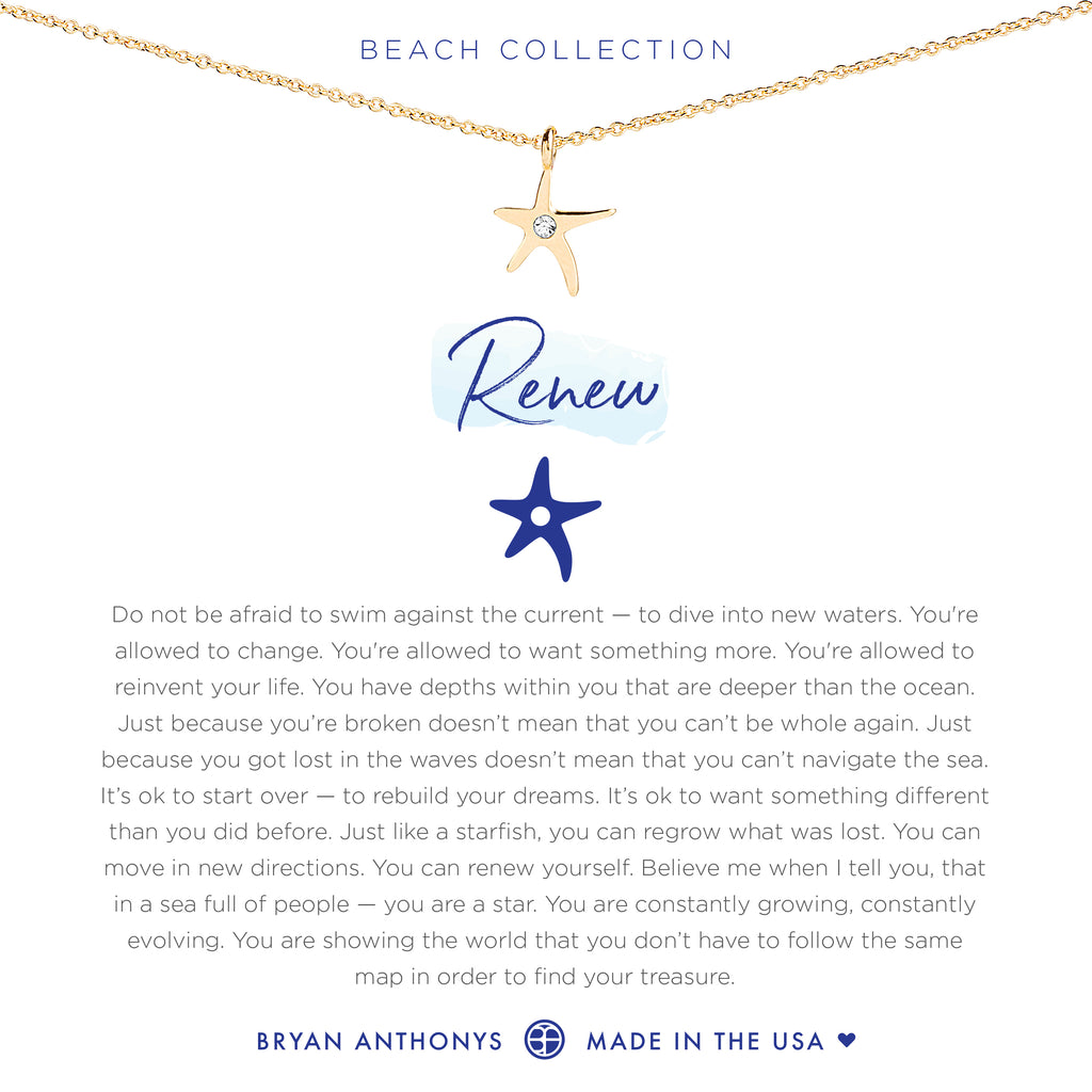 bryan anthonys dainty renew starfish necklace 14k gold