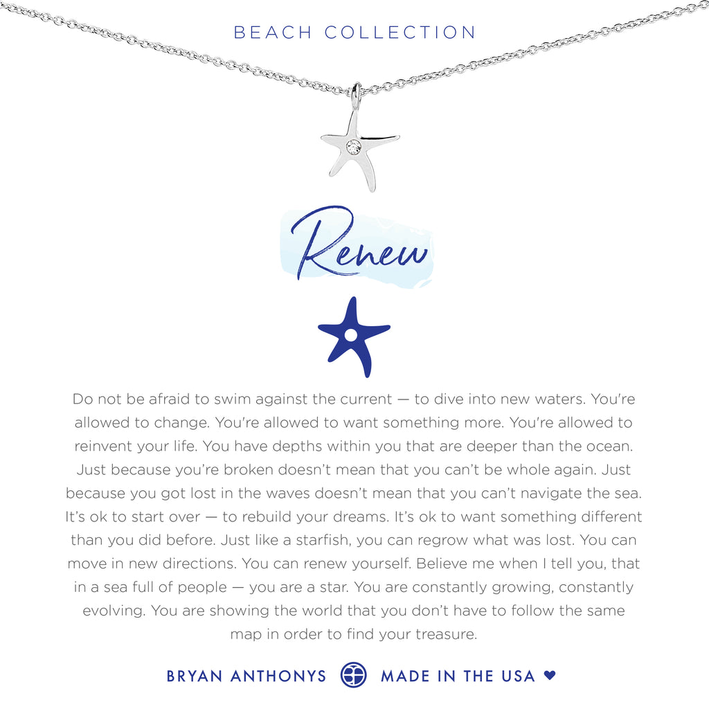 bryan anthonys dainty renew starfish necklace silver