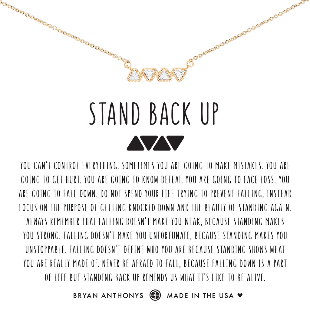 Bryan Anthonys dainty stand back up necklace 14k gold