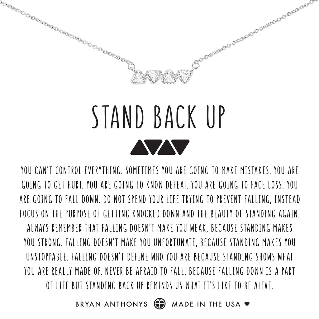 Bryan Anthonys dainty stand back up necklace silver