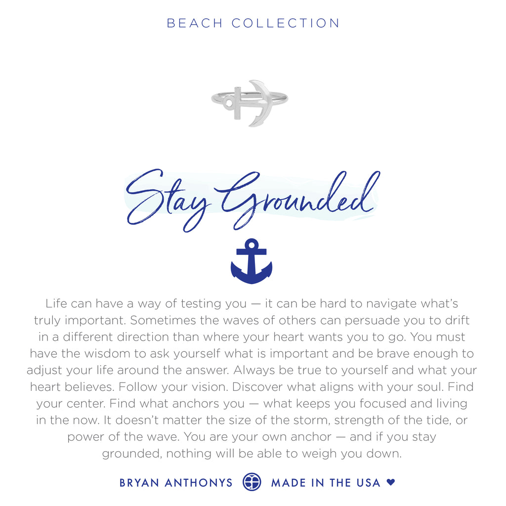 Bryan Anthonys dainty stay grounded anchor ring silver