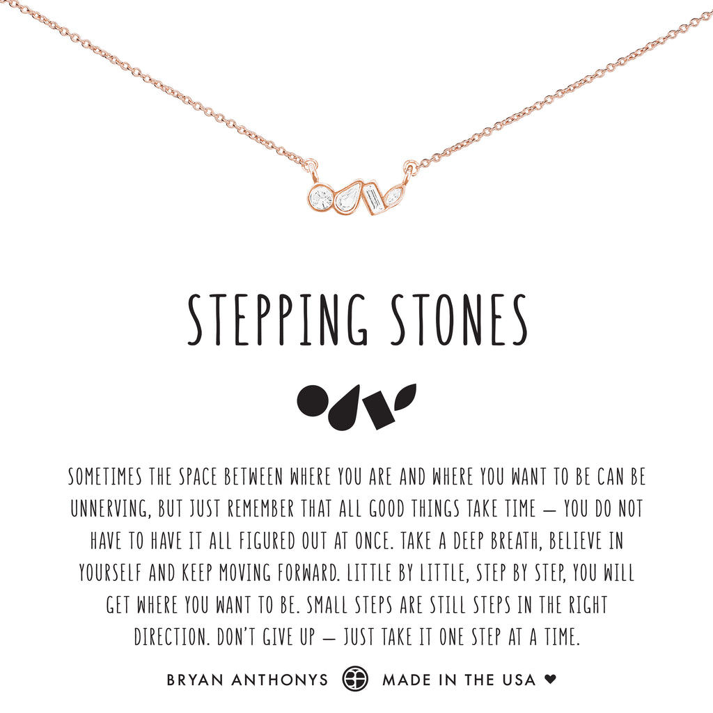 Bryan Anthonys dainty stepping stones necklace rose gold