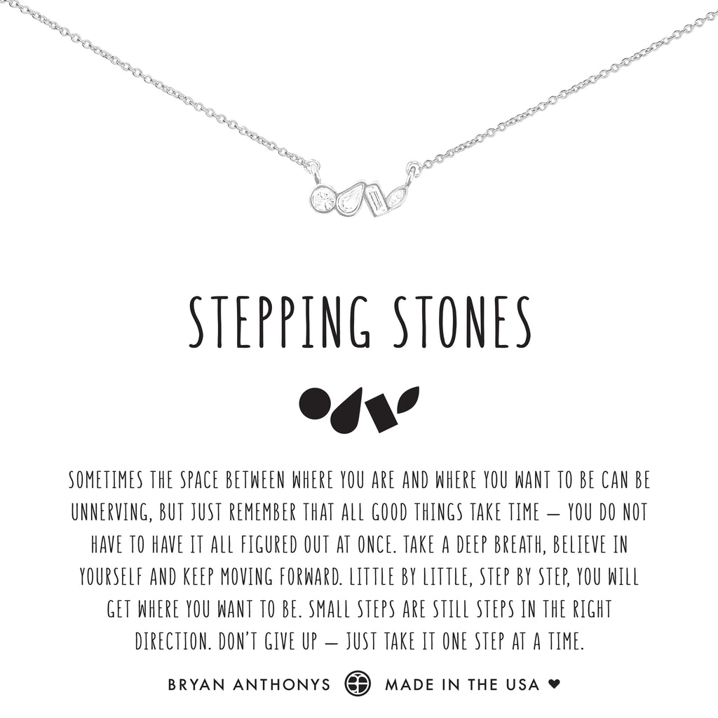 Bryan Anthonys dainty stepping stones necklace silver