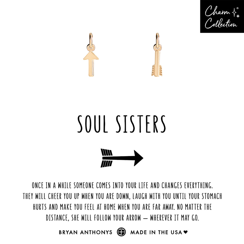bryan anthonys charm collection soul sisters necklace charm friendship set 14k gold