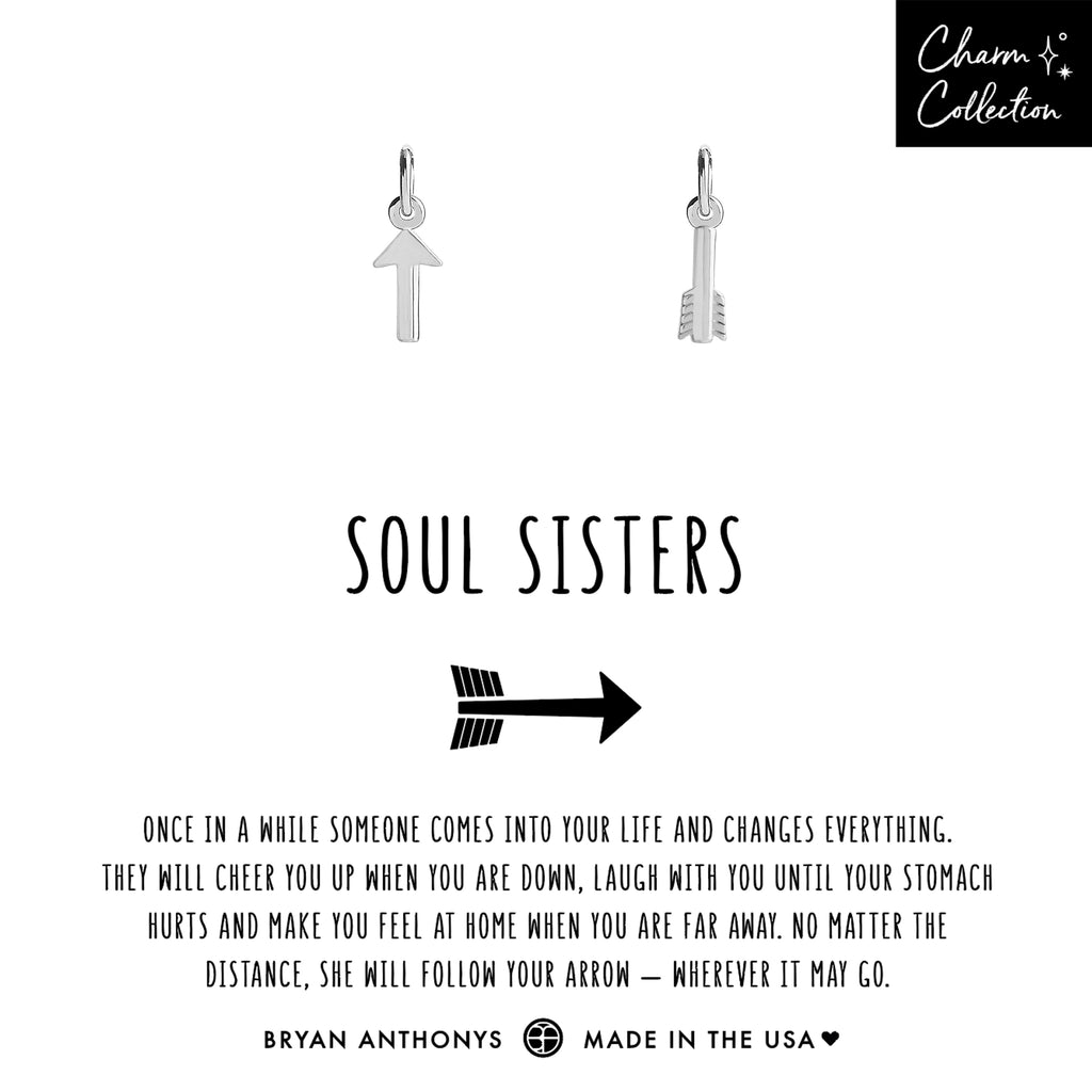 bryan anthonys charm collection soul sisters necklace charm friendship set silver