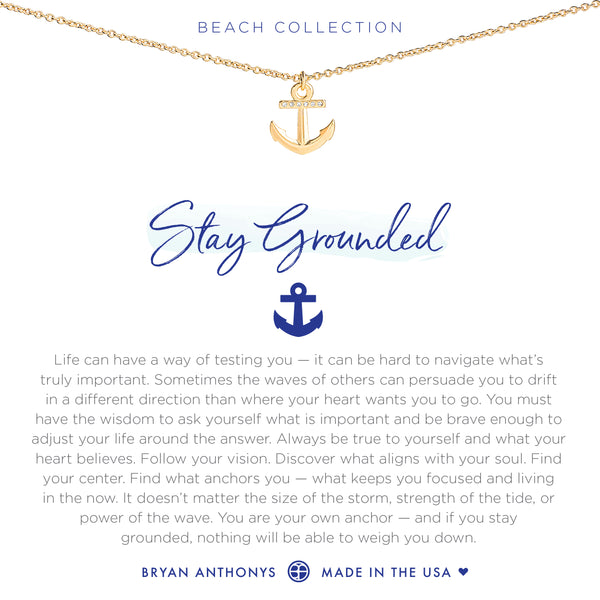 bryan anthonys dainty stay grounded anchor necklace 14k gold