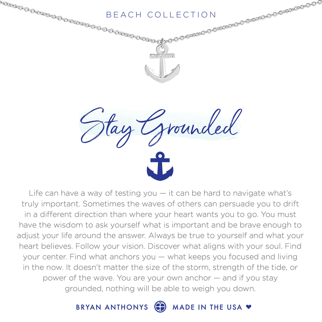 bryan anthonys dainty stay grounded anchor necklace silver
