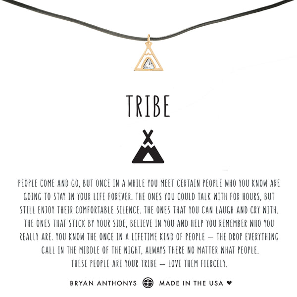 bryan anthonys dainty teepee tribe friendship leather choker 14k gold