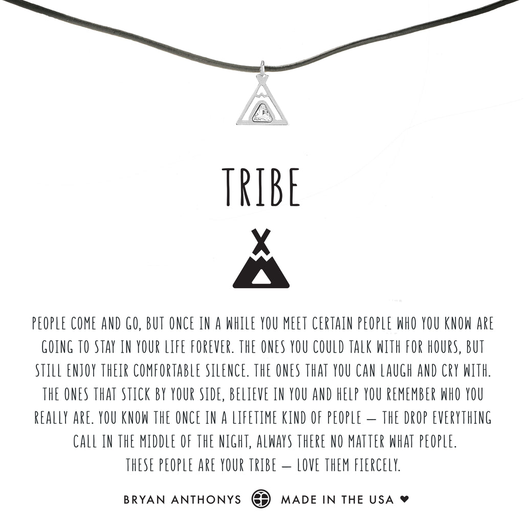 bryan anthonys dainty teepee tribe friendship leather choker silver