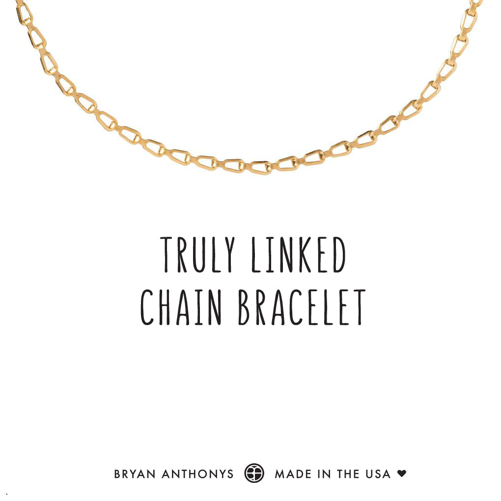 bryan anthonys dainty truly linked chain bracelet 14k gold