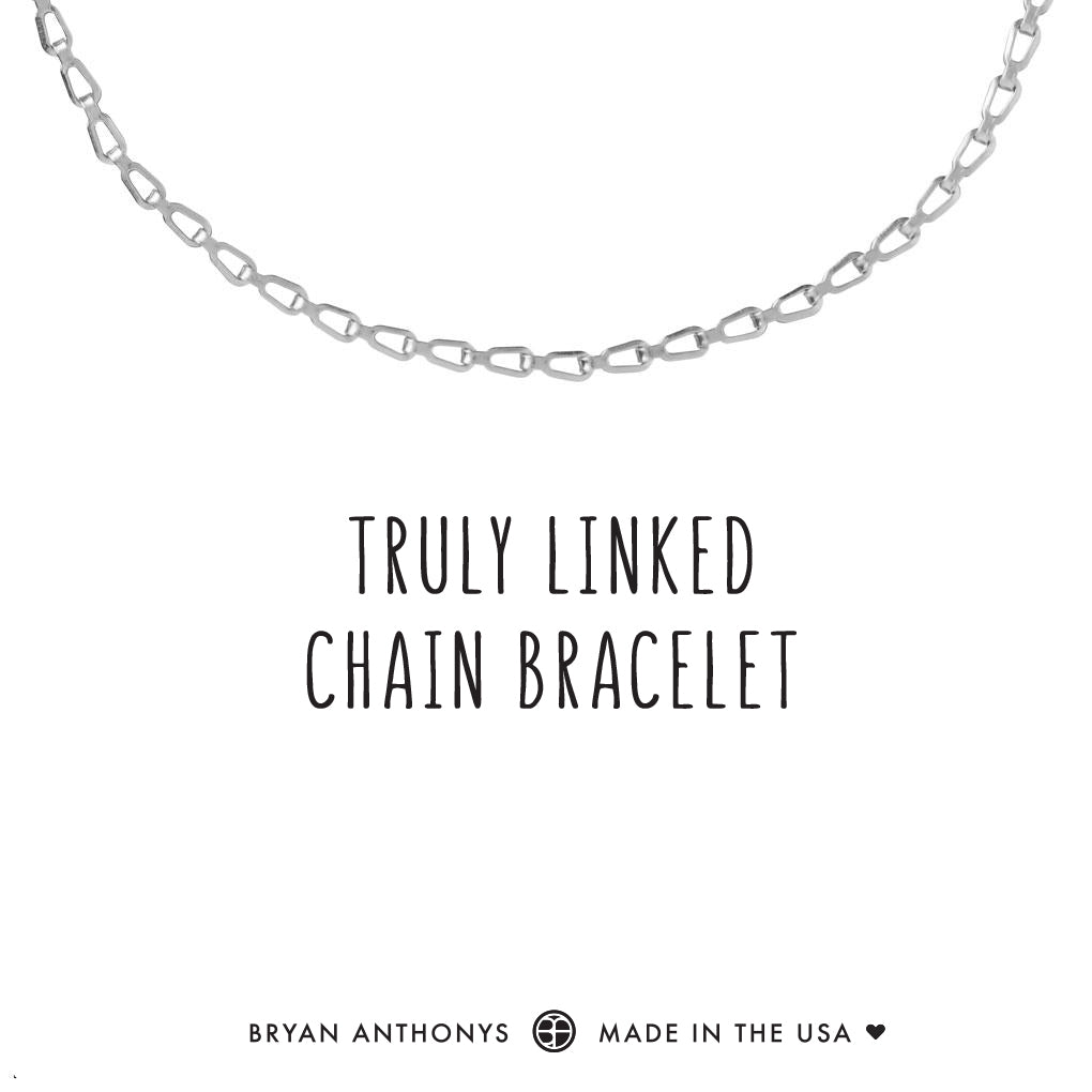 bryan anthonys dainty truly linked chain bracelet silver