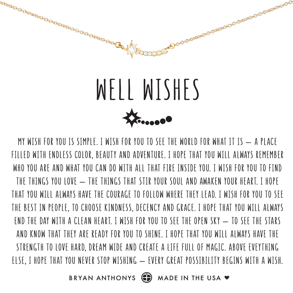Bryan Anthonys dainty well wishes necklace 14k gold