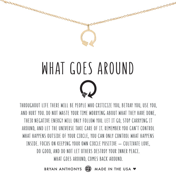 Bryan Anthonys what goes around necklace dainty 14k gold