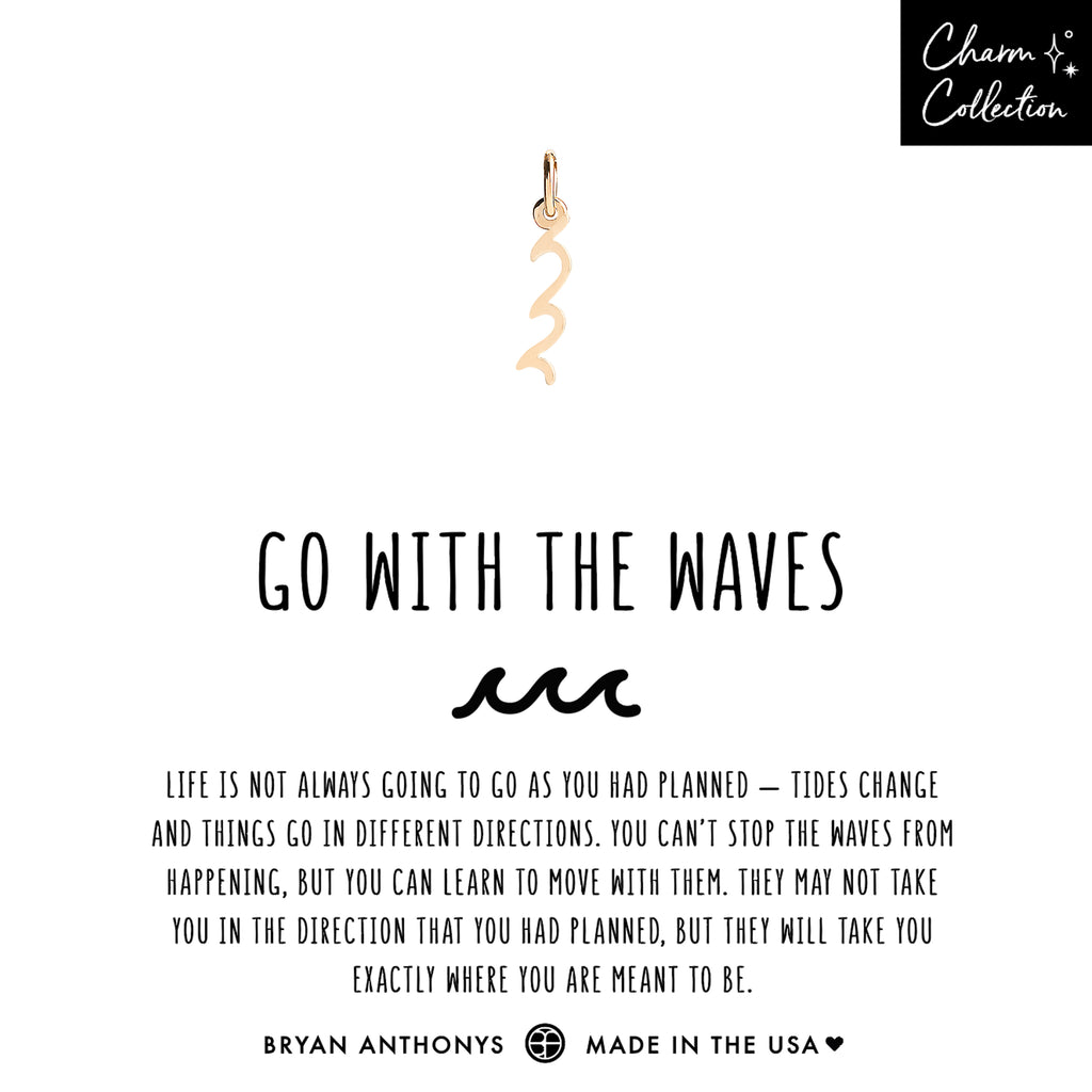 bryan anthonys charm collection go with the waves necklace charm 14k gold