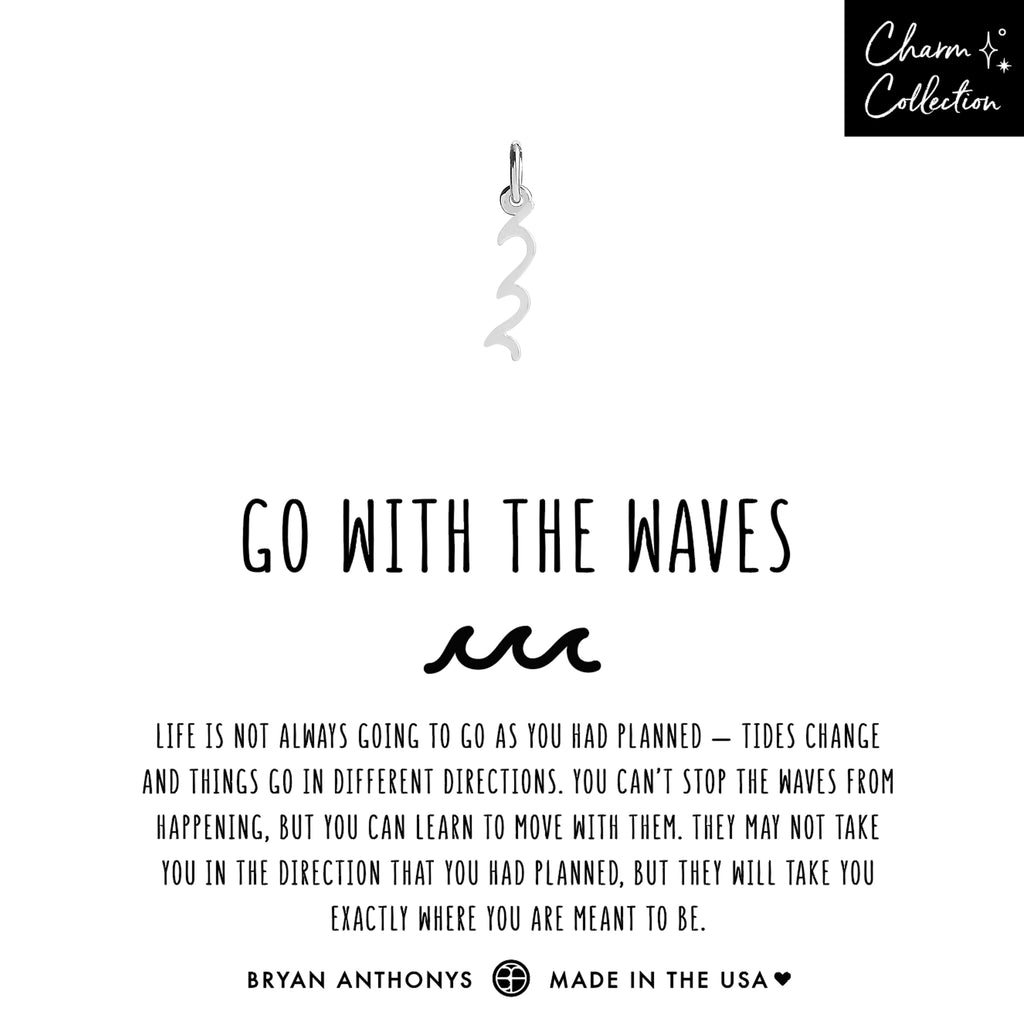 bryan anthonys charm collection go with the waves necklace charm silver